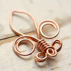Fleur de Lis Fio de cobre sólido - Pequeno - Handmade wirework Connector, Charme, ou pendente