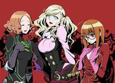 Haru, Ann and Futaba clothes swap! by @oto_nagi : Persona5