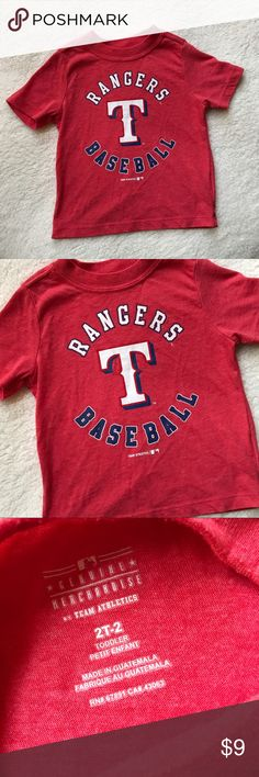 Boys Old Navy Texas Rangers Baseball Red Shirt 2T ✨ Reasonable offers welcome ✨  Boys Old Navy Texas Rangers Baseball Red Tee Shirt 2T  Size - 2T  I am 99% sure this was purchased from old navy, I just cannot remember.   Good Condition, light wash wear/pilling.  Bundle & Save!! Old Navy Shirts & Tops Tees - Short Sleeve