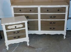 French Provincial dresser and nightstand