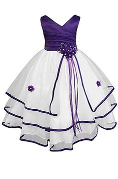 Amazon.com: AMJ Dresses Inc Big Girls' Communion Flower Girl Pageant Dress: Clothing