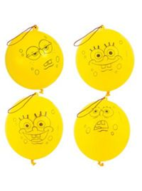 Party City: Latex SpongeBob Punch Balloons 4ct SKU: 457417 $1.99