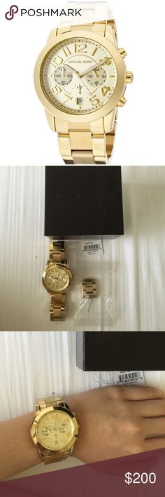 Michael Kors Mercer gold-tone watch Only worn once,very minor scratches, no battery, ❌NO TRADE‼️ Michael Kors Accessories Watches