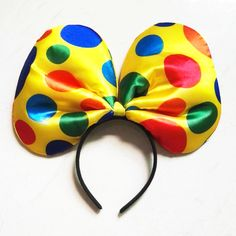 Giant rainbow dots Clown headband Baby Girl Hairband Kid Headbands Photography Travel Children Hair Accessories Halloween Makeup