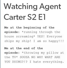 @Agent Carter writers: STOP BLOWING HOLES IN MY SHIP