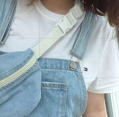 Denim Fanny Pack and Overalls