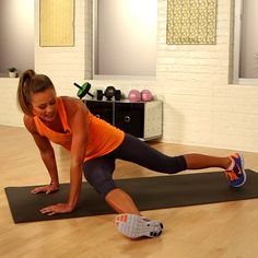 One-Minute Bikini-Core Challenge: Three-Point Touch  - This is great!!