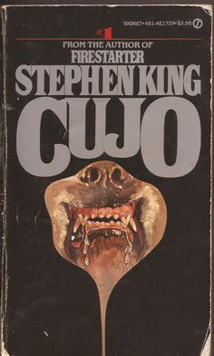 Cujo by Stephen King.my fave Stephen King book. Horror Fiction, Horror Books, Horror Movies, Scary Movies, Good Books, Books To Read, My Books, Steven King, Stephen King Books