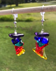 Rainbow earring made for a beautiful friend