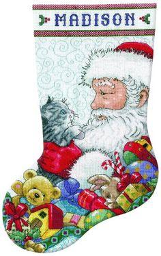 Tobin 14 Count Santa and Kitten Stocking Counted Cross Stitch Kit, 17-Inch Long Tobin http://www.amazon.com/dp/B008YDI7B4/ref=cm_sw_r_pi_dp_5JfNvb1TDXV8T