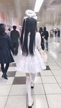 ʚ Lil lychee girl ɞ Aesthetic Japan, Angel Aesthetic, Japanese Aesthetic, Aesthetic Grunge, Aesthetic Girl, Grunge Goth, Nu Goth, Visual Kei, Harajuku