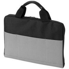 14 Zoll Laptop-Konferenztasche hat zwei Griffe, ein Hauptfach mit Reißverschluss und 3 Schlitztaschen vorne