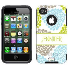 Pretty personalized Otterbox iphone case.  WANT!