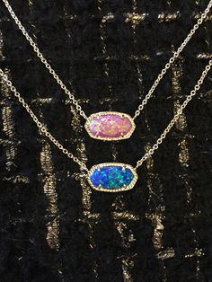 KS Elisa Necklace in Fuchsia Kyocera Opal & Royal Blue Kyocera Opal