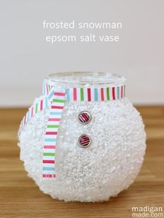 Madigan made… a frosted snowman from a fish bowl. Do you decorate much this time of year for the season? Do you put out 'winter' décor? Or jump to Valentine's Day? Maybe you prefer things simple an…