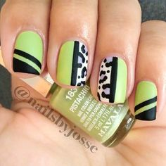 #nail #unhas #unha #nails #unhasdecoradas #nailart #gorgeous #fashion #stylish #lindo #cool #cute #lime #black #preto #branco #white