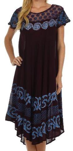 Sakkas Calista Embroidered Caftan Dress $26.99 #bestseller