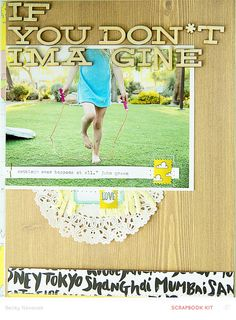 #papercraft #scrapbook #layout.  Penny Arcade | if you don't imagine….*main only by beckynovacek at @studio_calico