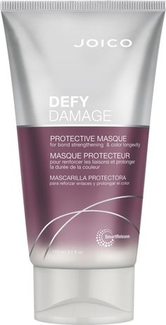 Joico Defy Damage Protective Masque is an intensive damage prevention masque to help replenish strength and moisture balance for soft, silky, shiny, healthy-looking hair in minutes. Side Part Hairstyles, Long Face Hairstyles, Chic Hairstyles, Trending Hairstyles, Protective Styles, Protective Mask, Hair Mask For Damaged Hair, Hair Masks, Beauty