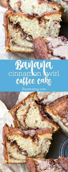 Banana Cinnamon Swirl Coffee Cake Recipe