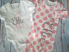 Personalized onesies make wonderful gifts. Use heat transfer material and a heat press to make yours.