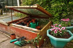 """Greenhouses are fantastic but can be quite pricey. The solution? A cold frame, often called the """"poor man's greenhouse."""" Gardening with cold frames is nothing new; they've been around for generations. They have a number of uses and you can learn more here."""