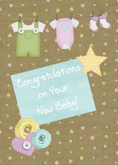 Cute card to send for new baby.
