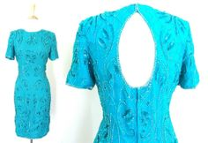 Vintage Emerald Sequin Dress NWT by VolereVintage on Etsy, $100.00