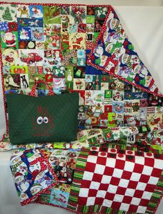 Christmas I Spy Quilt,  Matching Look Quilt with Checkers & Tote Bag, Christmas matching game, I spy game, fun memory games Holidays by StitchNWine on Etsy