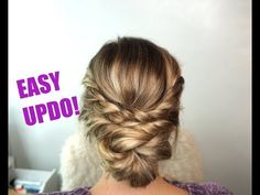 (15) Easy Updo Hairstyle! Perfect for Short, Medium and Long Hair - YouTube