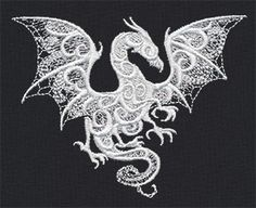 Dragon Smoke - Thread List | Urban Threads: Unique and Awesome Embroidery Designs