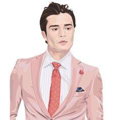 Chuck bass รับวาดภาพ / open commission contact for work  line id : hk.777 e-mail : h.santima@gmail.com or direct message , comment #art #fanart #ร้บวาดภาพ #รับวาดภาพราคาถูก #menstyle #male #illustrator #illustration #illus #draw #drawing #drawings #boy #gossipgirl #chuckbass #chucks #pink #design #artists