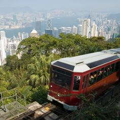 Tram to victoria peak love this one of my favorite places we went