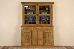 Irish Country Pine 1890 Antique Pantry Cupboard China Cabinet #Traditional