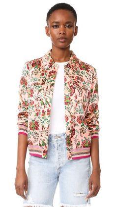 Scotch & Soda/Maison Scotch floral bomber jacket