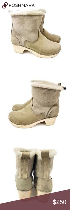 75615070a4a No.6 Women Bootie Beige Suede Shearling 38 (7.5-8) Good condition