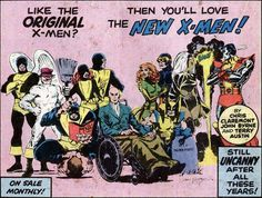 """1975/76 ad for the """"all-new"""" Uncanny X-Men"""
