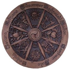 Wheel of the Year - great because it uses Lughnasadh instead of Lammas and Midsummer instead of Litha.