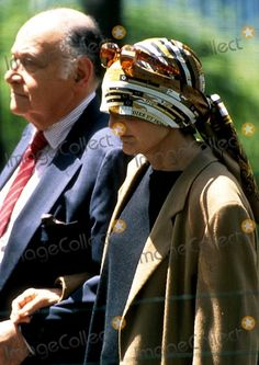 Jacqueline Kennedy Onassis and Maurice Tempelsman in Central Park  1994