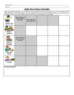 This Is A Graphic Free Literacy Checklist That Can Be Used As