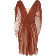 Vionnet Silk-chiffon cape dress