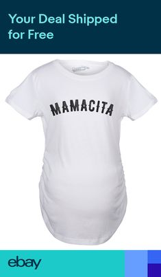 2a25edb259b70 Maternity Mamacita Pregnancy Tshirt Funny Spanish Language Hispanic Belly  Bump