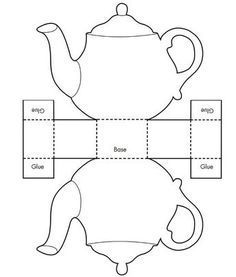 Printable Teacup Template Tea Pot Candy Box Templates - (would be cute for a girl's Beauty and the Beast party) Invitation Templates Design Candy Box Template, Box Templates Printable Free, Paper Craft Templates, Gift Box Templates, Free Printables, Origami Templates, Printable Paper, Paper Tea Cups, Tea Party Invitations