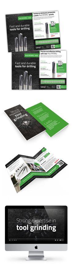 Asiakas: Progrinding Oy.  Avainsanat: esitesuunnittelu, videokuvaus, videoeditointi, äänituotanto, tuotekuvaus.