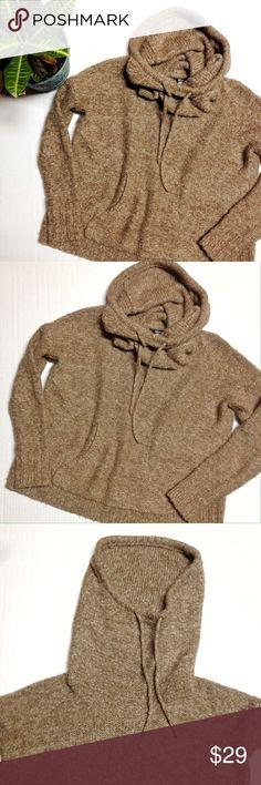 Kensie Drawstring Cowlneck Sweater Drawstring Cowlneck Sweater from Kensie. Size: M. Color: Brown. Front center pocket, drawstring around cowl. 88% acrylic, 12% wool. Kensie Sweaters Cowl & Turtlenecks