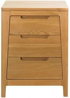 Caspian Three Drawer Chest Of Drawers In Steamed Dark