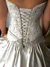 Maggie Sottero, Priscilla, Wedding Dress, satin,size 10, Beaded Ballgown