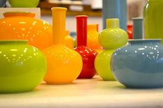 colouful and beautiful vases