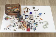 """Hyperallergic   Modeling Artistic Resistance in the Era of Trump by Cathy Park Hong   Installation view, Julie Ault: afterlife at Galerie Buchholz, November 13, 2015–January 16, 2016, showing David Wojnarowicz, """"Magic Box"""" (nd) mixed media box, 8 x 11 1/2 x 17 in."""