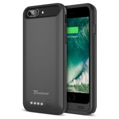 iPhone 7 Plus Battery Case, Trianium Atomic Pro iPhone Portable Charger iPhone 7 Plus 2016 Charging Case [Black] Extended Battery Pack Power Cases Juice Bank Cover[Apple Certified Part] Iphone Ladegerät, Iphone 7 Cases, Iphone 8 Plus, Apple Iphone, Tablet Cases, Portable Charger For Iphone, Iphone Charger, Thing 1, Iphone Accessories